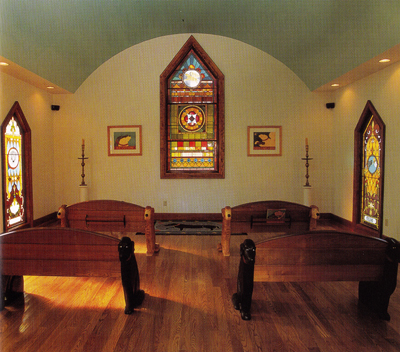 Dog Chapel interior when first built