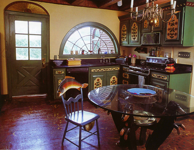 Stephen Huneck's kitchen