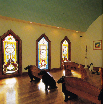 Dog Chapel original pews
