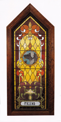 Dog Chapel stained glass window
