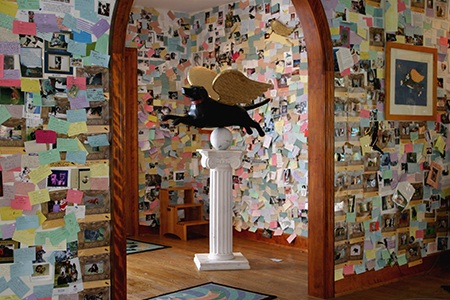 Notes and remembrances in Dog Chapel foyer