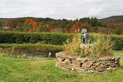 Sally sculpture at the dog pond