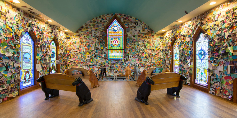 Inside the Dog Chapel
