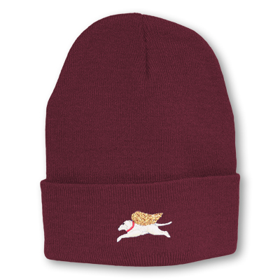 burgundy knit hat