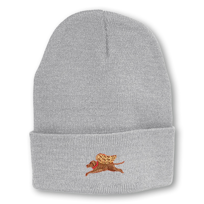 light gray knit hat