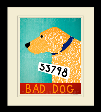 Golden Retriever Bad Dog Print
