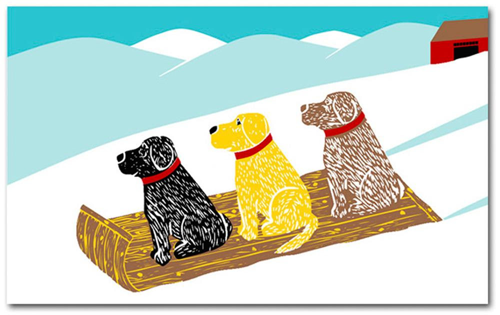 Sled Dogs Mat