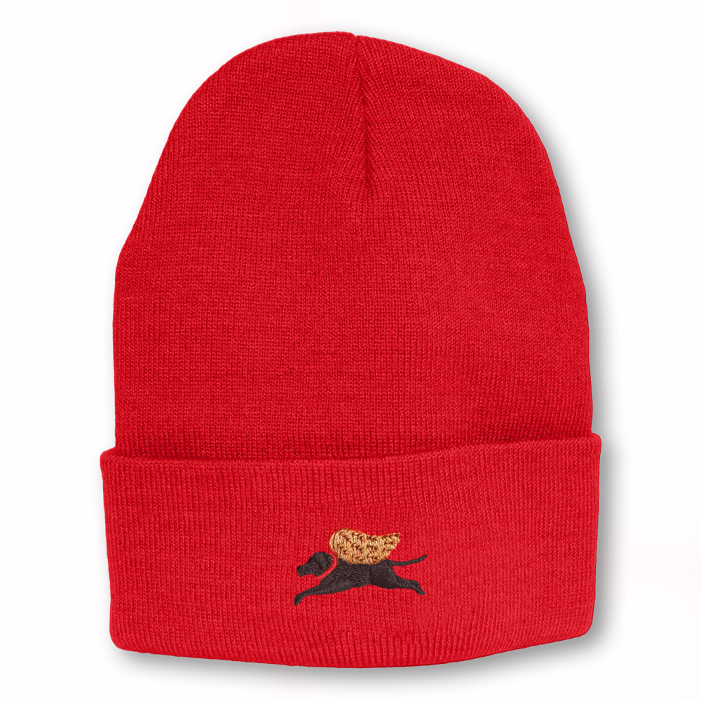 Red Angel Dog Knit Hat