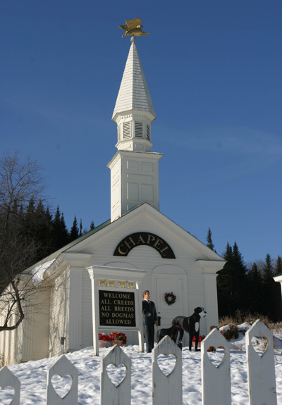 Dog Chapel in the winter