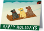 """""""Sled Dogs-Happy Holidays"""" Card"""