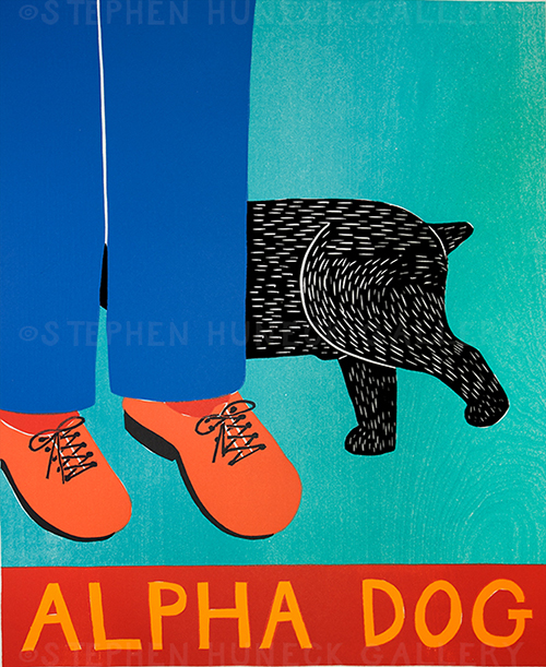 Alpha Dog - Original Woodcut