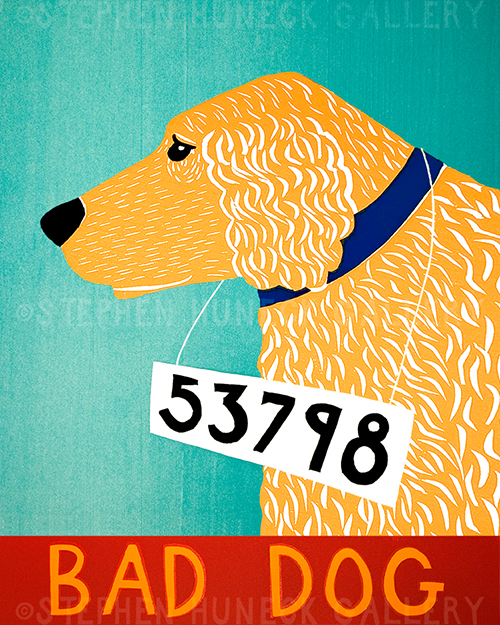 Bad Dog-Golden - Giclee Print