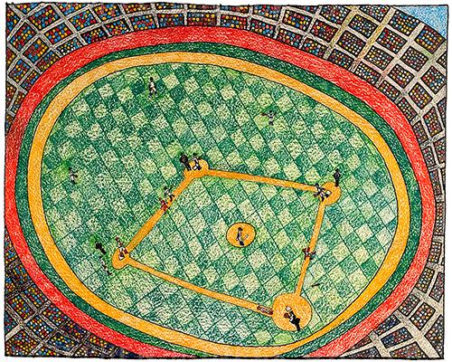 Ball Park - Crayon Print