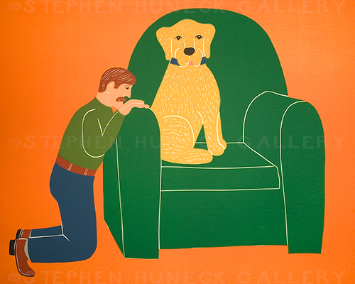 Begging for a Chair - Giclee Print
