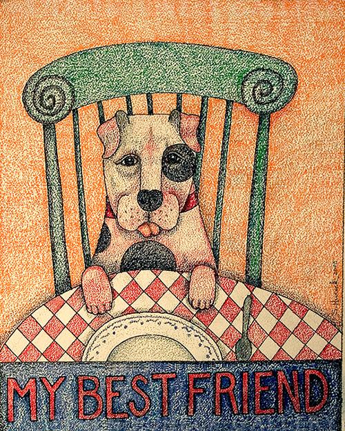My Best Friend - Crayon Print