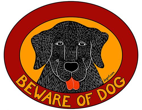 Beware of Dog - Sticker Decal