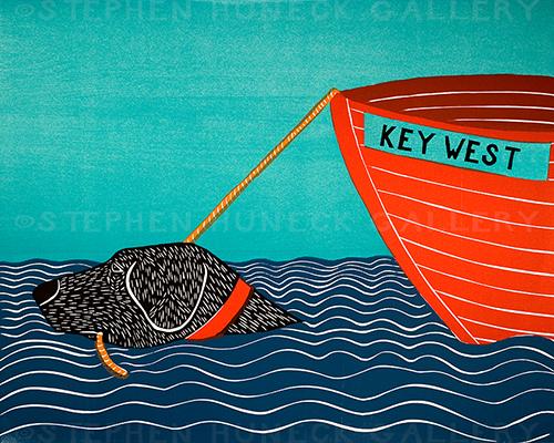 Boat-Key West - Giclee Print