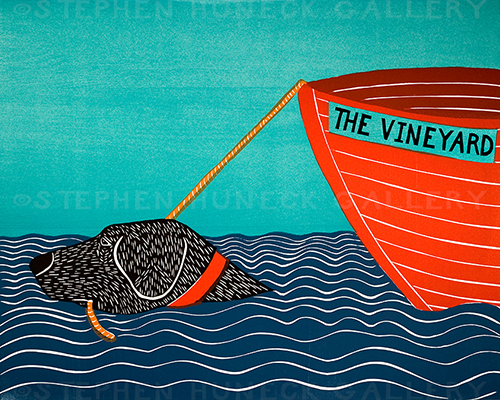Boat-The Vineyard - Giclee Print