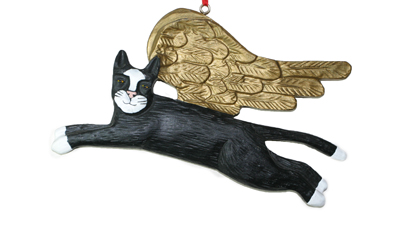 Cat - Angel Ornament