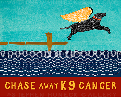 Chase Away K9 Cancer - Giclee Print