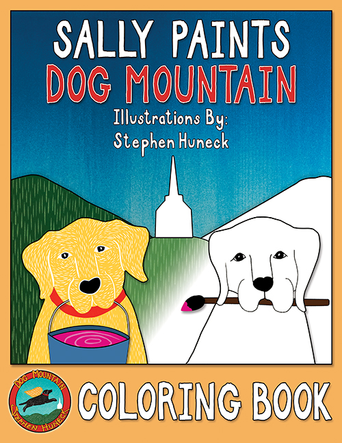 Sally Paints Dog Mountain - Coloring Book