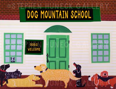Dog Mountain School - Giclee