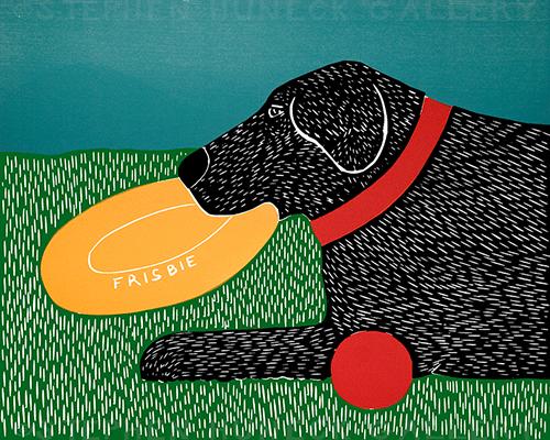 Dog Toys (Good Dog) - Original Woodcut