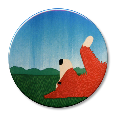 """Day Dreaming-Border Collie (color choice) - 2.25"""" Round"""