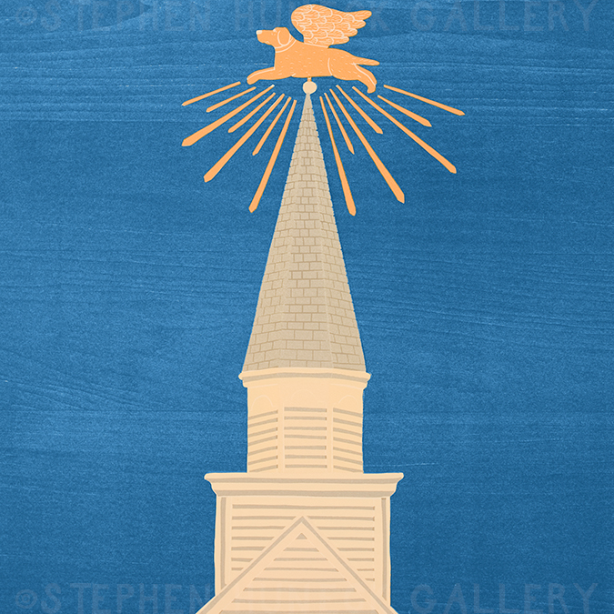 Dog Chapel Cupola - Giclee Print
