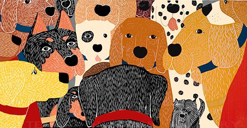 Dog Meeting - Full Edition Print