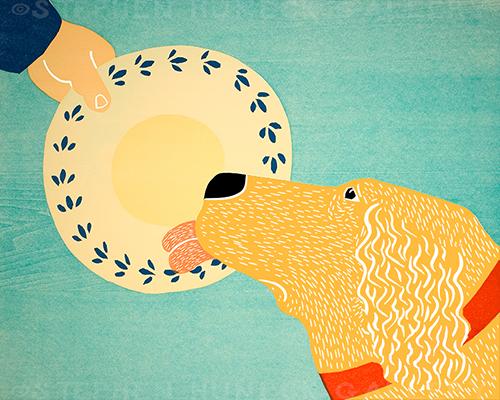 Dogs Like Jobs-Golden - Giclee Print