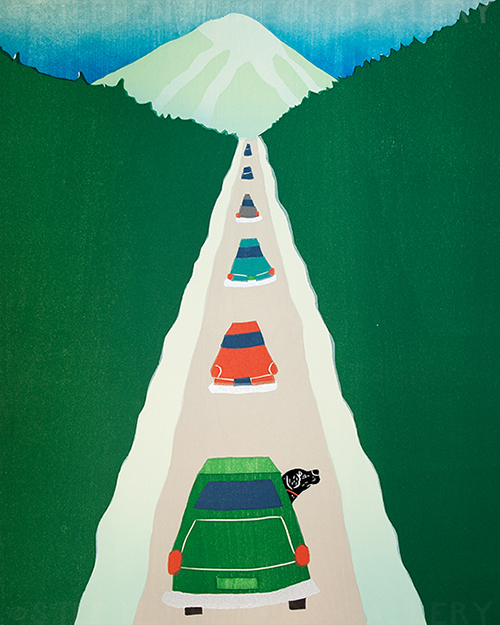 Driving to the Lodge - Giclee Print
