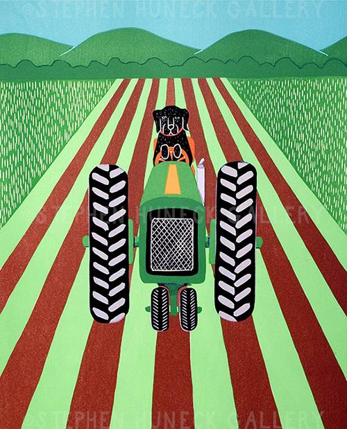 Farmer - Original Woodcut