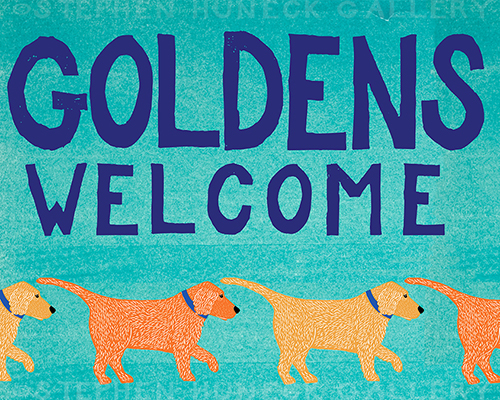 Goldens Welcome - Giclee Print