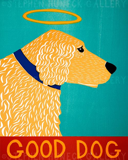 Good Dog-Golden - Giclee Print