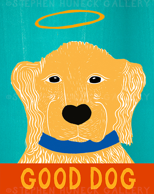Good Dog-Golden II - Giclee Print