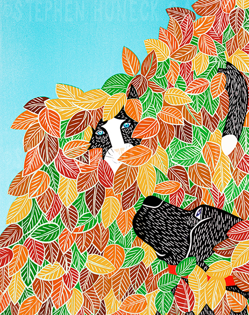Hide and Seek-Autumn - Giclee Print