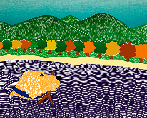 I Like Sticks-Autumn-Golden - Giclee Print