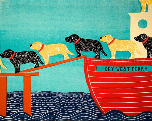 Island Ferry-Key West - Giclee Print