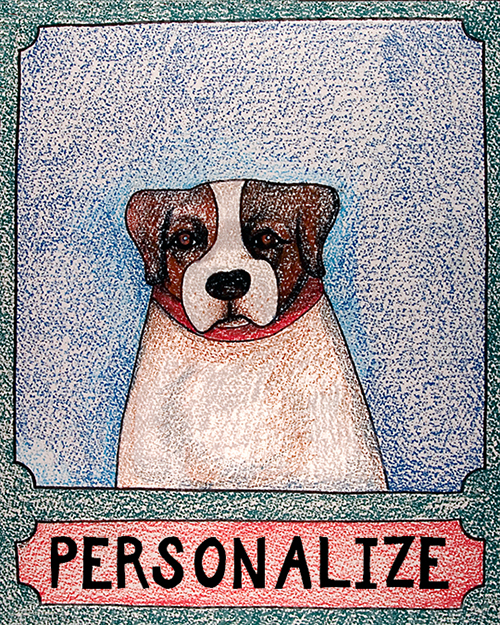 Jack Russell - Customizable Crayon Print