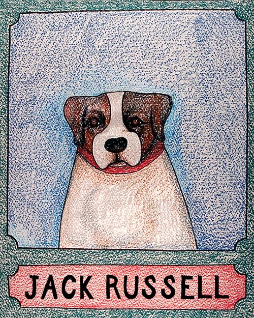 Jack Russell - Crayon Print