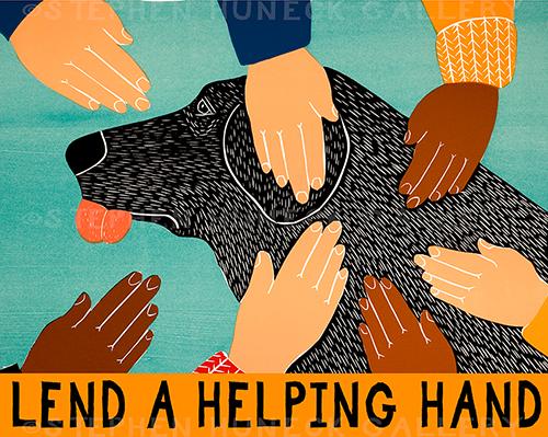Lend a Helping Hand - Giclee Print