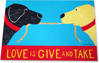 Love is Give and Take - Indoor Mat