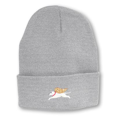 Light Gray - Angel Dog Knit Hat