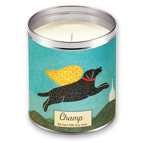 Angel Dog Personalized Memorial - Candle