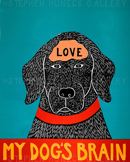My Dog's Brain-LOVE - Giclee Print
