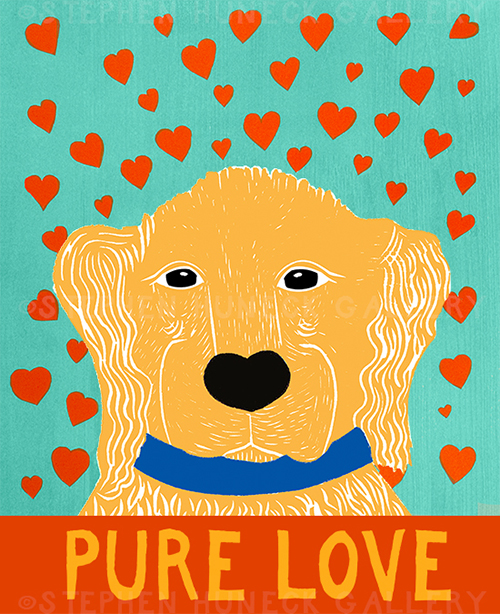 Pure Love-Golden - Giclee Print