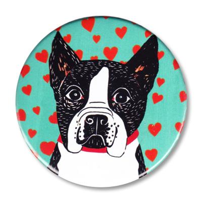 "Pure Love-Boston Terrier - 2.25"" Round"