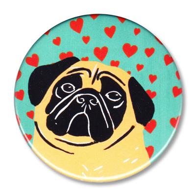 "Pure Love-Pug - 2.25"" Round"