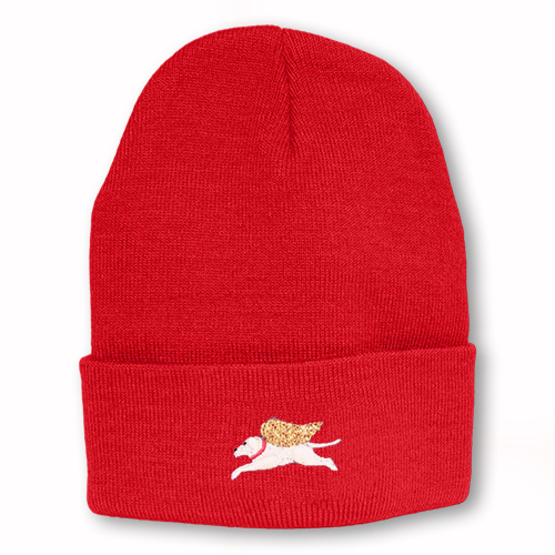 Red - Angel Dog Knit Hat
